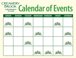 Creamery Brook Sample Calendar