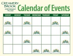 Creamery Brook Sample Calendar