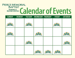 PierceCare Sample Calendar